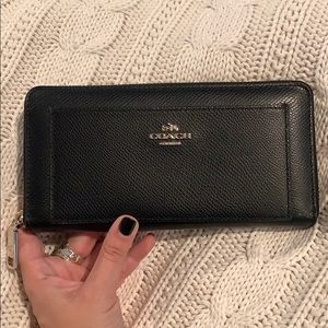 Coach pebble leather wallet